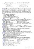 Đề thi KSCL môn Sinh học lớp 12 năm 2017-2018 lần 5 - THPT Nguyễn Viết Xuân - Mã đề 101