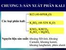 Bài giảng Công nghệ sản xuất phân bón vô cơ: Chương 3 - GV. Nguyễn Văn Hòa