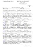 Đề thi khảo sát môn Vật lí lớp 12 năm 2017-2018 lần 4 - THPT Nguyễn Viết Xuân - Mã đề 307