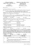 Đề thi khảo sát THPT Quốc gia môn Hóa học lớp 12 năm 2017-2018 lần 5 - THPT Nguyễn Viết Xuân - Mã đề 201
