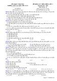 Đề thi KSCL môn Sinh học lớp 12 năm 2017-2018 lần 5 - THPT Nguyễn Viết Xuân - Mã đề 208
