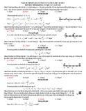 Bài tập momen quán tính của vật rắn, hệ vật rắn phương trình động lực học của vật rắn