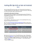 Hướng dẫn lập trình cơ bản với Android - Phần 1: Cách sử dụng Android trong Eclipse