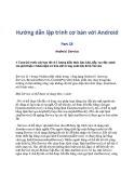 Hướng dẫn lập trình cơ bản với Android - Phần 18: Android Service