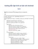 Hướng dẫn lập trình cơ bản với Android - Phần 8: Bài tập thực hành