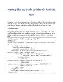 Hướng dẫn lập trình cơ bản với Android - Phần 7: Tìm hiểu Android Manifest