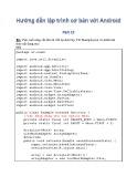 Hướng dẫn lập trình cơ bản với Android - Phần 12: Bài tập thực hành