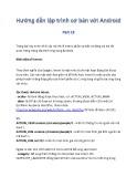 Hướng dẫn lập trình cơ bản với Android - Phần 13: Giới thiệu Intent