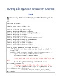Hướng dẫn lập trình cơ bản với Android - Phần 9: Bài tập thực hành