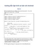 Hướng dẫn lập trình cơ bản với Android - Phần 15: Bài tập thực hành
