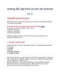 Hướng dẫn lập trình cơ bản với Android - Phần 21: Android Content Provider