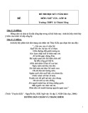Đề kiểm tra HK 2 môn Ngữ văn lớp 10 năm 2013 - THPT Lê Thánh Tông