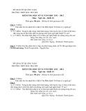 Đề thi HK 2 môn Ngữ văn lớp 10 năm 2011 - THPT Bắc Trà My