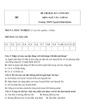 Đề thi HK 2 môn Ngữ văn lớp 10 năm 2013 - THPT Nguyễn Bỉnh Khiêm - Mã đề 2