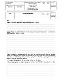 Đề thi học kì 1 môn Sinh lớp 6 năm 2017-2018 có đáp án - Trường THCS Bình An