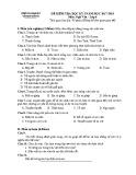 Đề thi học kì 1 môn Ngữ Văn lớp 6 năm 2017-2018 có đáp án - Phòng GD&ĐT Vĩnh Tường