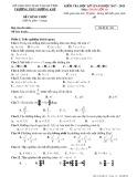 Đề kiểm tra HK 2 môn Toán lớp 10 năm 2018 - THPT Hương Khê - Mã đề 001