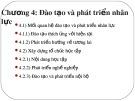 Bài giảng Quản trị nguồn ngân lực (Nâng cao): Chương 4 - PGS. TS. Dương Cao Thái Nguyên