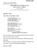 Đề kiểm tra HK 2 môn Ngữ Văn lớp 10 năm 2018 - THPT Trần Hưng Đạo