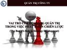 Bài giảng Quản trị công ty: Chương 5 - TS. Võ Tấn Phong