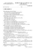 Đề kiểm tra HK 1 môn Vật lí lớp 11 năm 2018 - THPT Ngô Lê Tân - Mã đề 483