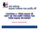 Bài giảng Mạng thông tin quốc tế: Chương 1 - Nguyễn Anh Việt