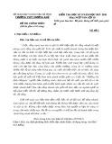 Đề kiểm tra HK 2 môn Ngữ Văn lớp 10 năm 2018 - THPT Hương Khê - Mã đề 02