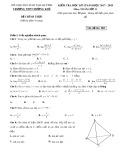 Đề kiểm tra HK 2 môn Toán lớp 11 năm 2018 - THPT Hương Khê - Mã đề 003