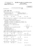 Đề kiểm tra HK 1 môn Toán lớp 12 năm 2018 - THPT Ngô Lê Tân - Mã đề 001