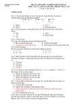 Câu hỏi trắc nghiệm môn Vật lý lớp 10 Nâng cao - THPT Lương Văn Chánh