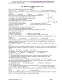 Câu hỏi trắc nghiệm Vật lý lớp 10 Nâng cao