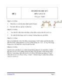 Đề kiểm tra HK 1 môn Vật lý lớp 10 - Mã đề 2
