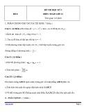 Đề thi HK 2 môn Toán học lớp 12 - Mã đề 8