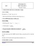 Đề thi HK 2 môn Toán học lớp 12 - Mã đề 9
