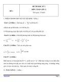 Đề thi HK 2 môn Toán học lớp 12 - Mã đề 3