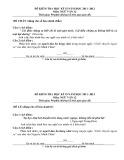 2 đề kiểm tra HK 2 môn Ngữ văn lớp 12 năm 2012