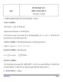 Đề thi HK 2 môn Toán học lớp 12 - Mã đề 6