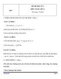 Đề thi HK 2 môn Toán học lớp 12 - Mã đề 7