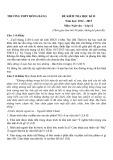 Đề kiểm tra HK 2 môn Ngữ văn lớp 12 năm 2015 - THPT Hồng Bàng