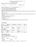 Đề kiểm tra HK 2 môn Toán lớp 9