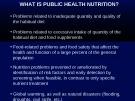 Bài giảng Dinh dưỡng cho các lớp Sau đại học 2014 - Bài 3: Y tế công cộng
