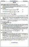 Đề ôn thi Đại học môn Toán - Trần Sĩ Tùng - Đề số 9