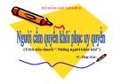 Bài giảng Ngữ văn 11 - Bài: Người cầm quyền khôi phục uy quyền