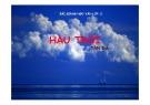 Bài giảng Ngữ văn 11 - Bài: Hầu trời
