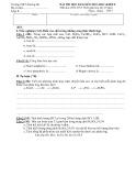 Đề thi HK 2 môn Hóa học lớp 8 năm 2013 - THCS Dương Hà
