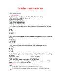 Đề kiểm tra HK 2 môn Hóa học lớp 8 - Mã đề 2