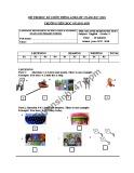 Đề thi học kì 2 môn Tiếng Anh lớp 3 năm 2017-2018 - Trường Tiểu học Quảng Sơn