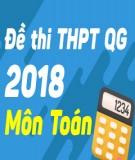 Đề thi THPT Quốc gia môn Toán năm 2018