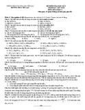 Đề thi học kì 1 môn Hóa lớp 9 năm 2017-2018 có đáp án - Trường THCS Yên Lạc