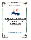 Tổng hợp đề thi học kì 1 môn Tiếng Việt lớp 1 năm 2017-2018